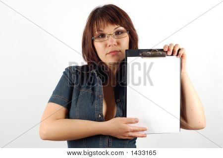 Woman With Clipboard #4