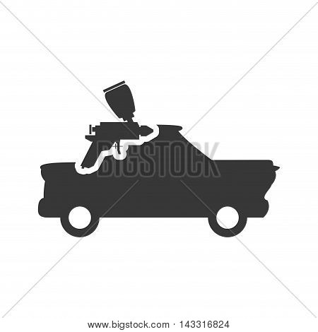 drill tool repair construction silhouette icon. Flat and Isolated design. Vector illustration