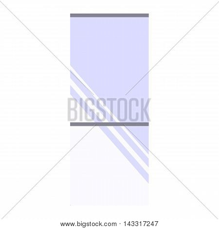 Wall mirror. Flat design. Isolated icon on white background. Vector illustration.