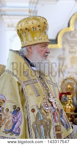 Kiev Ukraine celebration liturgy in honor of the baptism of Rus in Kiev Pechersk Lavra - 27 July 2013 -: