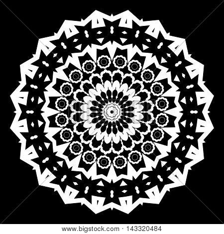Mandala decorative element. Oriental illustration. Islam Arabic Indian turkish pakistan chinese ottoman motifs