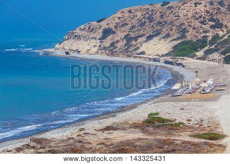 Mediterranean Beach View near Paphos city Cyprus