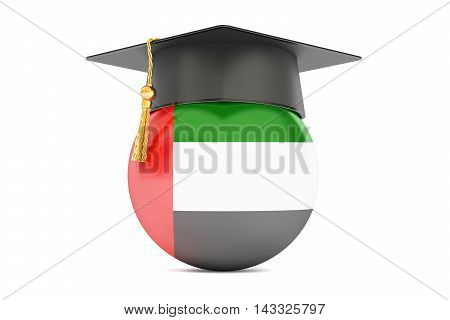 education and study in UAE concept 3D rendering isolated on white background