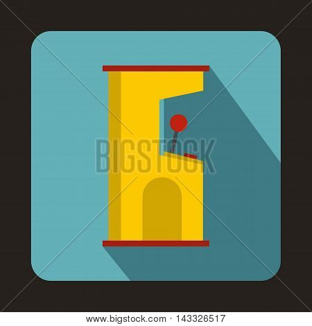 Slot machine icon in flat style with long shadow. Play symbol