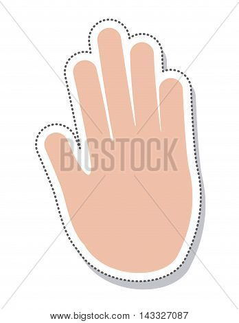 hand human protest isolated icon vector illustration design