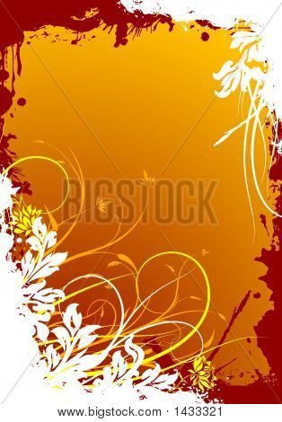 Abstract Grunge Floral Decorative Background Illustration