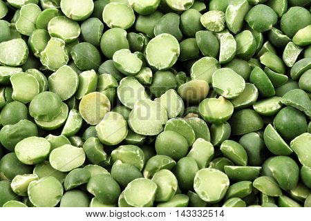 An extreme macro image of dried split peas