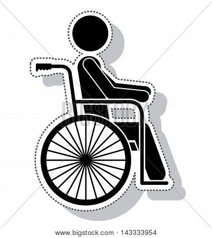 wheelchair silhouette isolated icon vector illustration design
