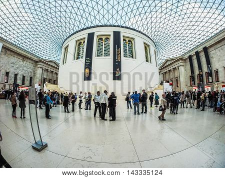 Great Court At The British Museum In London (hdr)