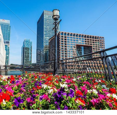 Canary Wharf In London (hdr)