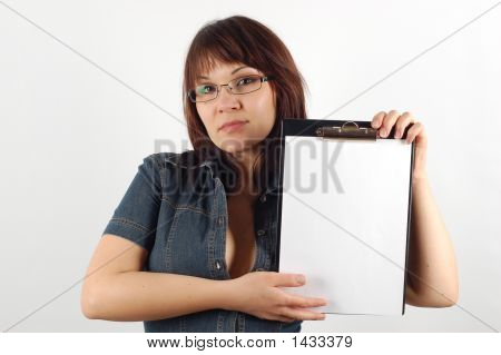 Woman With Clipboard #7