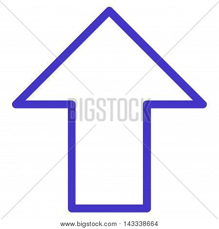 Arrow Up vector icon. Style is contour icon symbol, violet color, white background.