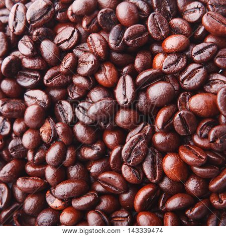 Background From Delicious And Fragrant Coffee Beans