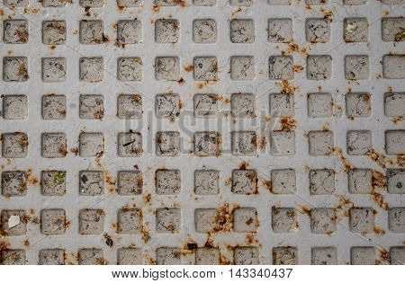 Gray Manhole Cover Close Up background image