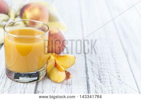 Fresh Made Peach Juice