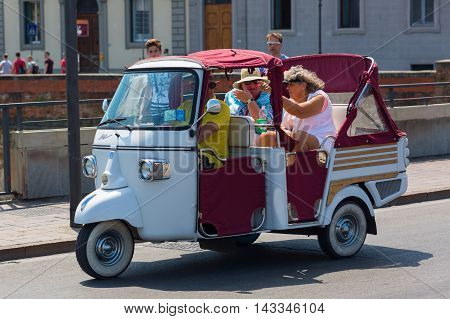 Historic Three-wheeled Piaggio Ape