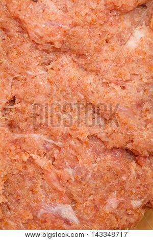 Fresh Juicy Raw Minced Meat Close-up