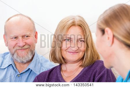 Photo of a couple at the doctor