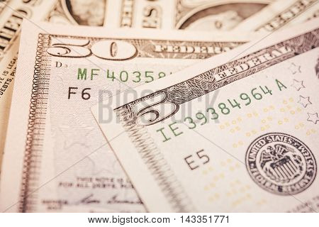 dollar bills finance and banking concept for background.