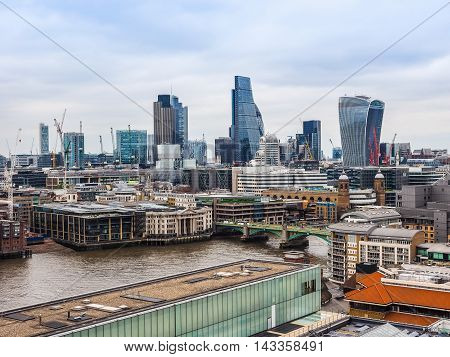 Aerial View Of London Hdr