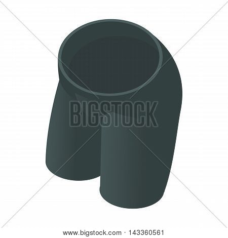 Black tight cycling shorts icon in cartoon style on a white background