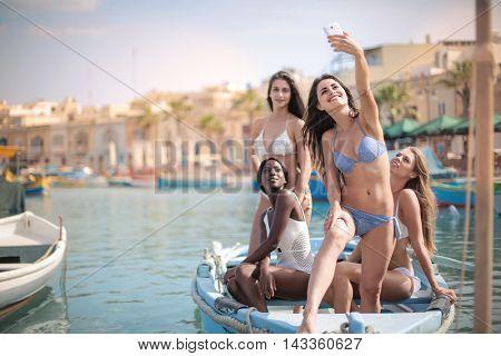 Selfie at the seaside
