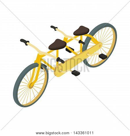 Bicycle tandem icon in cartoon style on a white background