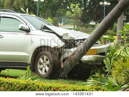 Road accident car crash on an city road