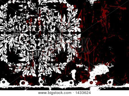 Vector Grunge Abstract Floral Background