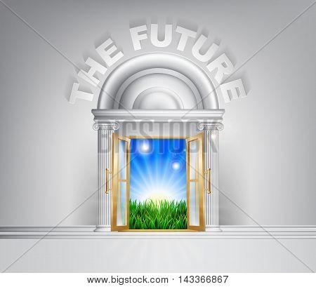 Door To The Future Concept