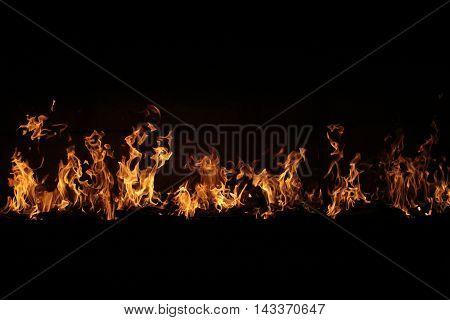 Burning Flame On Black