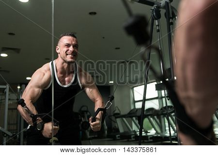 Chest Workout Cable Crossover In Gym