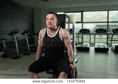 Triceps Workout On Machine