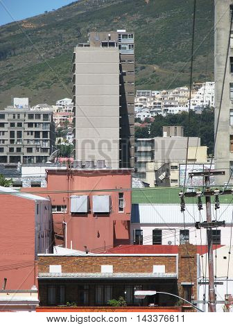 Houses And Flats Below Signal Hill, Cape Town South Africa