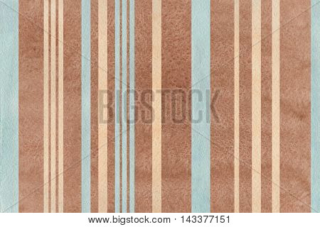 Watercolor Brown, Beige And Blue Striped Background.