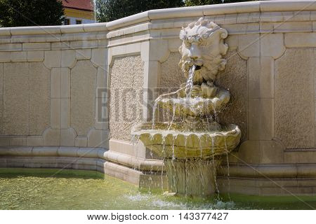 Neptune Fountain At  Castle Schloss Hof, Austria
