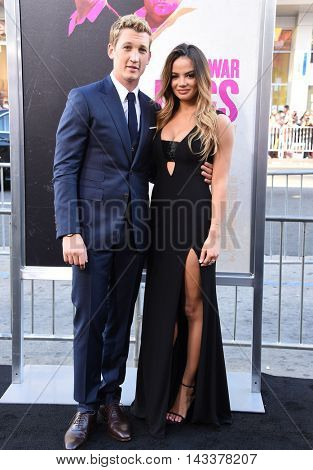LOS ANGELES - AUG 15:  Miles Teller & Keleigh Speers arrives to the