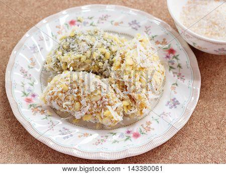 Thai Dessert Of Glutinous Rice Flour
