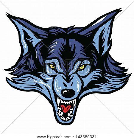 Wolf Head Mascot Vector Illustration Clip Art
