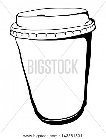 Disposable Take away Coffee paper cup. Vector illustration