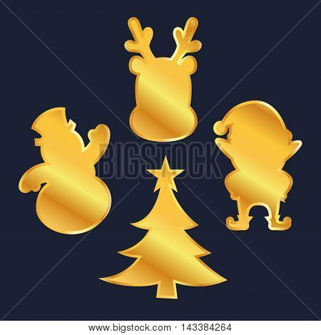 Vector stock of golden christmas decoration ornament