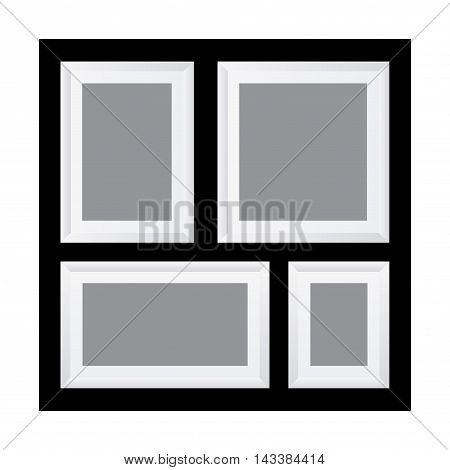 Vector stock of multi photo in one frame template