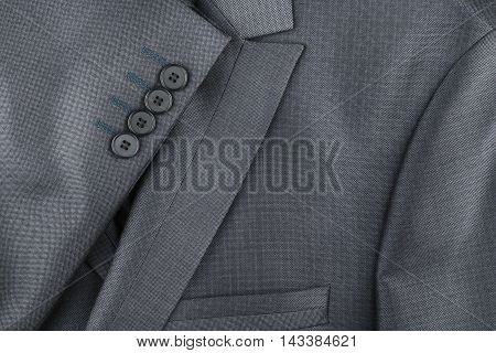 Texture of the classic jacket with pocket and sleeves with space for your text