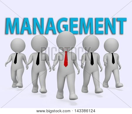Management Bosses Shows Managing Directors 3D Rendering