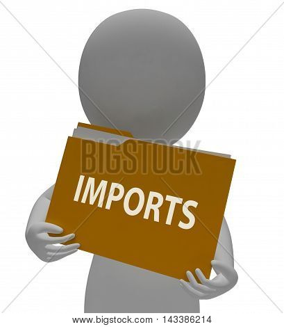Imports Folder Means Imported Cargo 3D Rendering