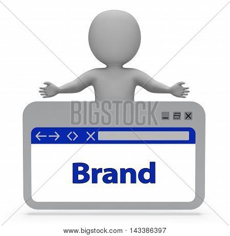 Brand Label Indicates Company Identity 3D Rendering