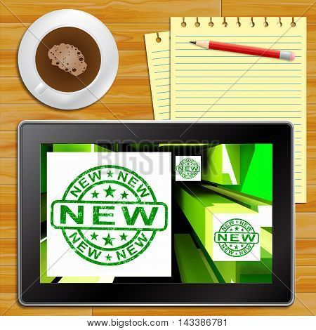 New Product Showing Latest Tablet 3D Illustration
