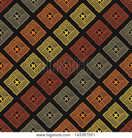 Abstract warm colored background. Seamless pattern. Abstract yellow and orange texture. Square element. For wallpaper, pattern fills, web page backdrop.