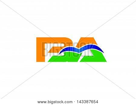 BA company group linked letter logo design
