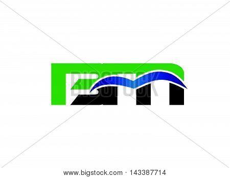 Letter B and M logo vector design